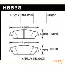 Колодки тормозные HB568Z.666 HAWK Perf. Ceramic Cadillac Escalade, Chevrolet Silverado, Suburban зад