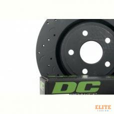 КОМПЛЕКТ ЗАДНИЙ. JEEP Grand Cherokee WK2 3.6 2011-> ; Тормозные диски Hawk + колодки DC Brakes
