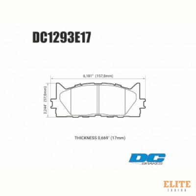 Колодки тормозные DC1293E17 DC brakes RT.2, передние TOYOTA CAMRY 2007-2018