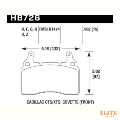 Колодки тормозные HB726N.582