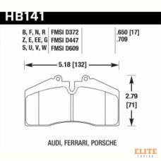 Колодки тормозные HB141N.650 HAWK HP+  Brembo S4 / Stop Tech ST