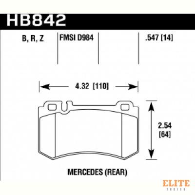 Колодки тормозные HB842Z.547 MB CLS C219; S W220; S W221; S C215; S C216; SLR R199
