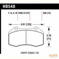 Колодки тормозные HB548F.590 HAWK HPS Renault Clio 3 RS/Megane 2 Sport