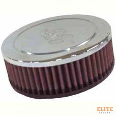 Фильтр нулевого сопротивления универсальный K&N RA-045V Chrome Filter, посадочный d=52mm