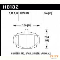 Колодки тормозные HB132N.580 HAWK HP Plus