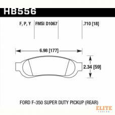 Колодки тормозные HB556Y.710 HAWK LTS задние Ford F-250 / F-350