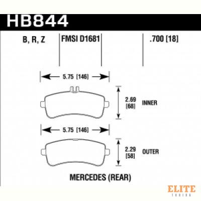 Колодки тормозные HB844B.700 задние AMG GT, SL 63AMG 2012-> ;