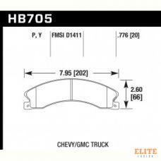 Колодки тормозные HB705Y.776 HAWK LTS  Chevrolet Silverado 2011-2013