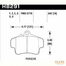 Колодки тормозные HB291F.642 HAWK HPS  PORSCHE 911 (996) (997); Boxster (981)