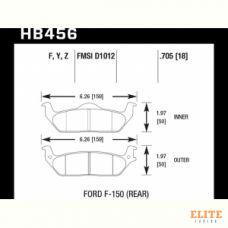 Колодки тормозные HB456Y.705 HAWK LTS
