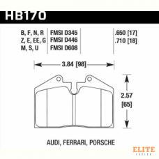 Колодки тормозные HB170F.650 HAWK HPS  StopTech задн.LC200, LX570 4поршн. ST41