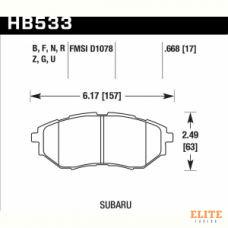 Колодки тормозные HB533F.668 HAWK HPS передние SUBARU Legacy / Outback / Tribeca