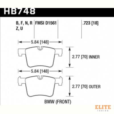 Колодки тормозные HB748R.723 HAWK Street Race перед BMW F20 F30