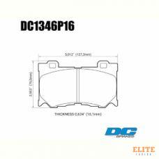 Колодки тормозные DC1346P16 DC Brakes Street STR.S+, передние INFINITI FX50/FX37/G37/ Nissan 370Z