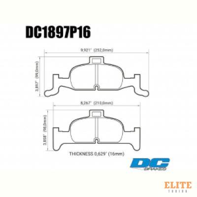 Колодки тормозные DC1897P15 DC brakes Street STR.S+, перед  A4 B9; A5 F53; Q5 FYB; суппорт ATE;