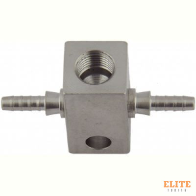 Тройник Goodridge crimp-M10x1-crimp, прямой конус, нерж сталь, SP-225
