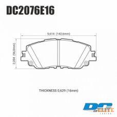 Колодки тормозные DC2076E16 DC Brakes RT.2 передние TOYOTA CAMRY V70 2017-> ; LEXUS ES 2018->
