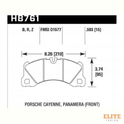 Колодки тормозные HB761N.593