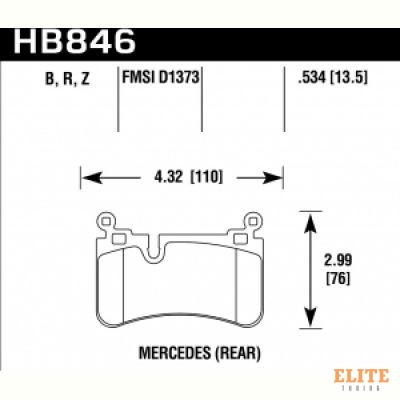 Колодки тормозные HB846Z.534 MERCEDES-BENZ C63 AMG (204, 218)