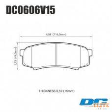 Колодки тормозные DC0606V15 DC Brakes Street HD, задние LEXUS GX460, GX470; TOYOTA PRADO 150/120