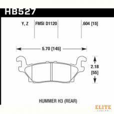 Колодки тормозные HB527Y.604 HAWK LTS задние  Hummer H3