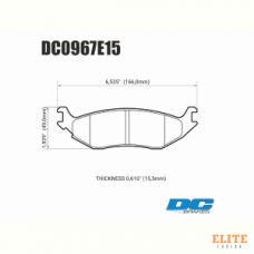 Колодки тормозные DC0967E15 DC Brakes RT.2, задн. DODGE RAM 1500, DURANGO