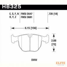 Колодки тормозные HB325F.720 HAWK HPS передние BMW X5 E53 / M5 E39 / E39