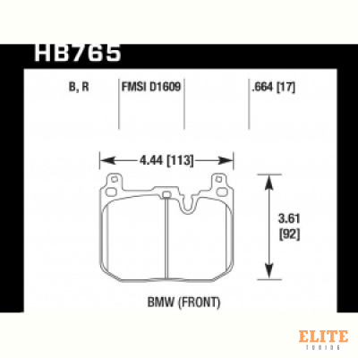 Колодки тормозные HB765Z.664 PC перед BMW M4 F82, F32; M3 F80 F30; F20 F22 F87 M-Perfor
