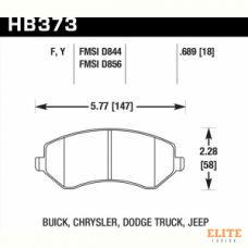 Колодки тормозные HB373F.689 HAWK HPS Jeep Liberty (KJ) 2002-2007