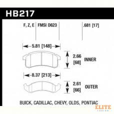 Колодки тормозные HB217E.681 HAWK Blue 9012 Camaro, Firebird 17 mm
