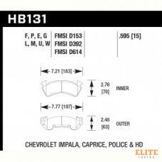 Колодки тормозные HB131F.595 HAWK HPS передние CHEVROLET