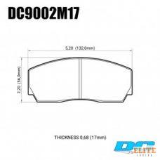Колодки тормозные DC9002M17 DC brakes Race Track, Proma 4 поршн. ТМ2.334, ТМ2.332, AP Racing, Rotora