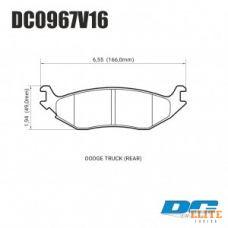 Колодки тормозные DC0967V15 DC Brakes Street HD, задн. DODGE RAM 1500, DURANGO