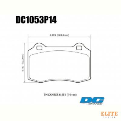 Колодки тормозные DC1053P14 DC brakes Street STR.S+, Brembo тип A, C, F; JBT CM4P1