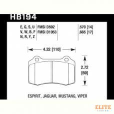 Колодки тормозные HB194Y.570 HAWK LTS  Brembo тип A, C, F / JBT CM4P1