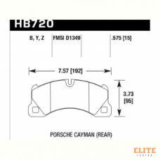 Колодки тормозные HB720Z.575 HAWK PC; перед PORSCHE CAYENNE 9PA; PANAMERA 970; TOUAREG 7LA