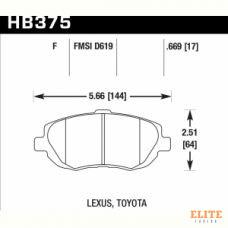 Колодки тормозные HB375F.669 HAWK HPS LEXUS GS300; GS400; GS430; IS300; SC430;
