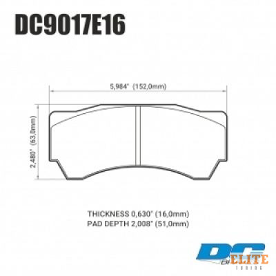 Колодки тормозные DC9017E16 DC Brakes RT.2 Alcon Monoblock 6 CAR97