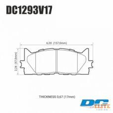 Колодки тормозные DC1293V17 DC brakes Street STR.S, передние TOYOTA CAMRY 2007-2018