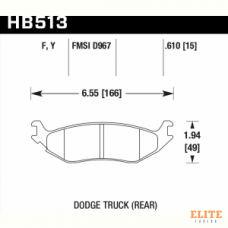 Колодки тормозные HB513Y.610 HAWK LTS задн. DODGE RAM 1500, DURANGO