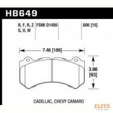 Колодки тормозные HB649B.605 HAWK Street 5.0 Jeep SRT8 2012-2014, AUDI 4F RS6 (BREMBO), RANGE ROVER