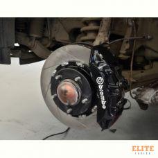 """Тормозная система передняя 380x34mm, Brembo GT 6 поршней, Toyota LC200, Lexus 570 колесные диски 19"""""""