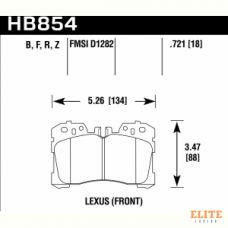 Колодки тормозные HB854Z.721 HAWK PC Lexus LS (F4), LS350, LS500 2017->  передние