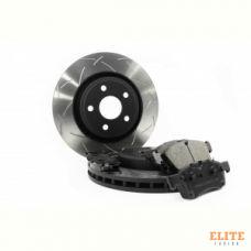 КОМПЛЕКТ ПЕРЕД. Тормозные диски DBA 42635S T3+колодки DC brakes  JEEP GRAND CHEROKEE WK2 3.6 2011->